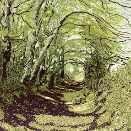 Linogravures de paysages